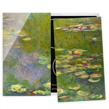 Coprifornelli in vetro - Claude Monet - Verde Ninfee - 52x80cm