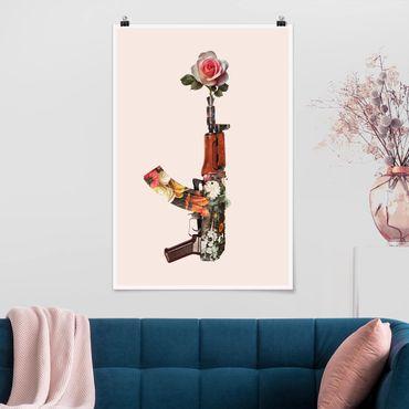 Poster - Jonas Loose - Arma con Rosa - Verticale 3:2
