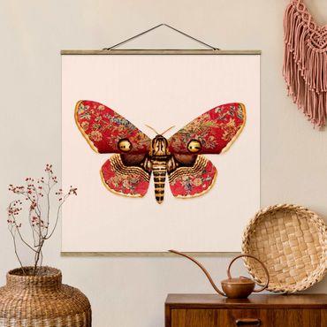 Foto su tessuto da parete con bastone - Vintage Moth - Quadrato 1:1