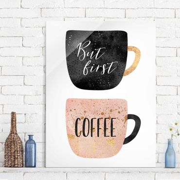 Quadro in vetro - Ma prima, caffè - Verticale 4:3