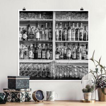 Poster - Bar Black Bianco - Quadrato 1:1