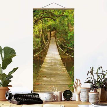 Quadro su tessuto con stecche per poster - Jungle Ponte - Verticale 2:1