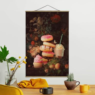 Foto su tessuto da parete con bastone - Floreale dolce Bouquet - Verticale 3:2