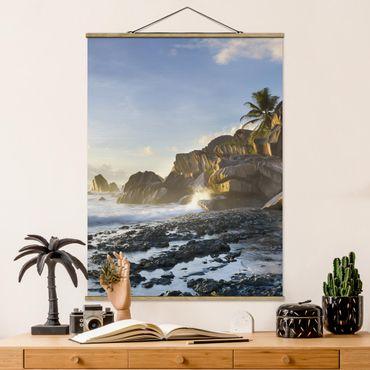 Foto su tessuto da parete con bastone - Tramonto Sul Islanda Paradise - Verticale 4:3