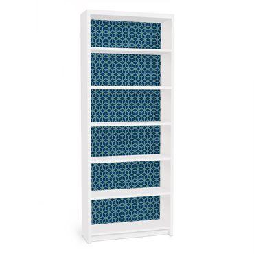Carta adesiva per mobili IKEA - Billy Libreria - Cube pattern blue