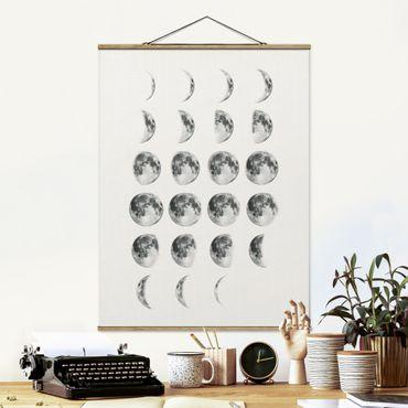 Foto su tessuto da parete con bastone - La Luna - Verticale 4:3