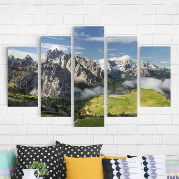 Stampa su tela 5 parti - Italian Alps