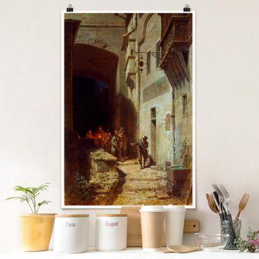 Poster - Carl Spitzweg - Il dovere Gathering Guardia - Verticale 3:2
