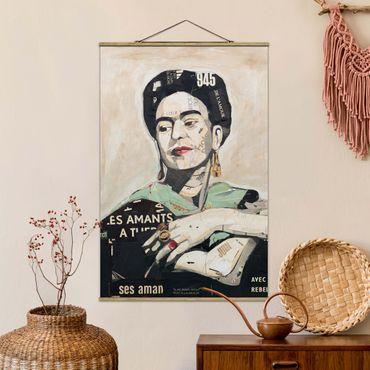 Foto su tessuto da parete con bastone - Frida Kahlo - Collage No.4 - Verticale 3:2