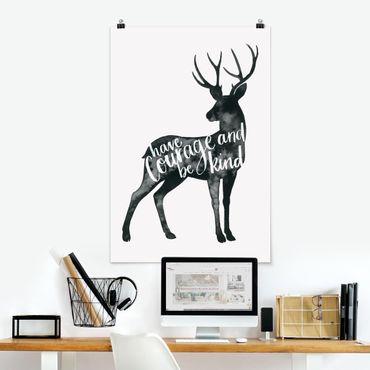 Poster - Animali con la Sapienza - Deer - Verticale 3:2