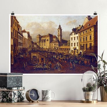 Poster - Bernardo Bellotto - Il Freyung a Vienna - Orizzontale 2:3