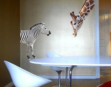 Adesivo murale no.307 Giraffe+Zebra