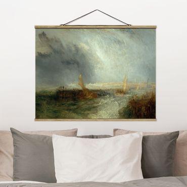Foto su tessuto da parete con bastone - William Turner - Ostenda - Orizzontale 3:4