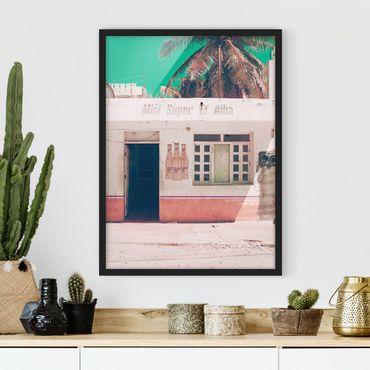 Poster con cornice - Mini Supermarket Vintage - Verticale 4:3