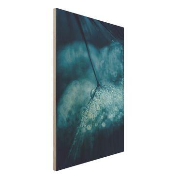 Quadro in legno - Tarassaco Blu In The Rain - Verticale 2:3