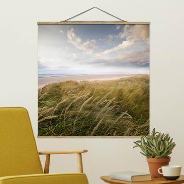 Quadro su tessuto con stecche per poster - dune di sogno - Quadrato 1:1