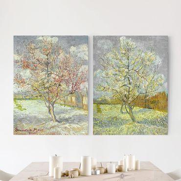 Stampa su tela 2 parti - Vincent Van Gogh - Peach Blossom In The Garden - Verticale 4:3