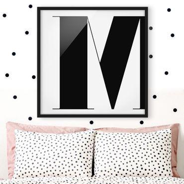 Poster con cornice - Antiqua Letter M - Quadrato 1:1