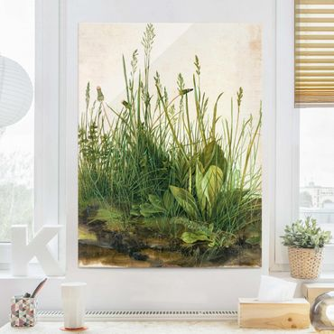 Quadro in vetro - Albrecht Durer - The Great Lawn - Verticale 4:3