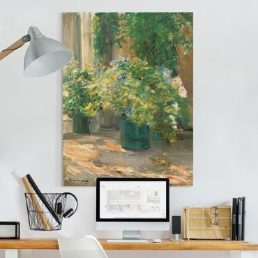 Quadri su tela - Max Liebermann - Vaso da Fiori nel Davanti alla casa