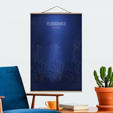 Foto su tessuto da parete con bastone - Film Poster Flashdance - Verticale 3:2