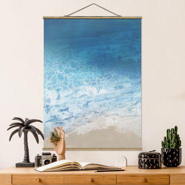 Foto su tessuto da parete con bastone - Tides In Color I - Verticale 4:3