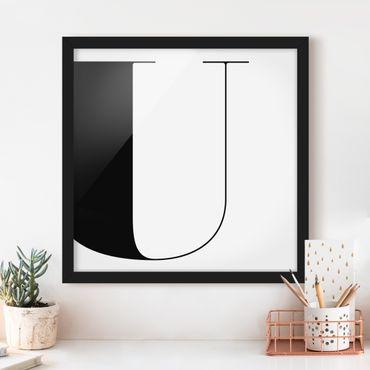 Poster con cornice - Antiqua Letter U - Quadrato 1:1