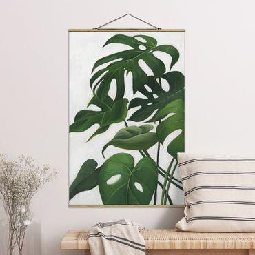 Foto su tessuto da parete con bastone - Piante preferite - Monstera - Verticale 3:2