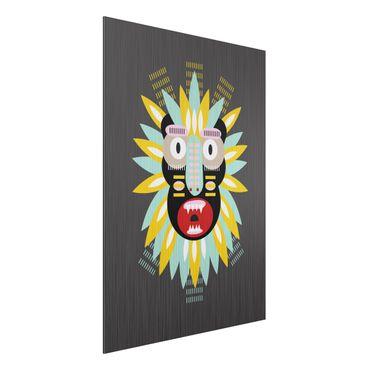 Stampa su alluminio spazzolato - Collage Mask Ethnic - King Kong - Verticale 4:3