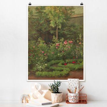 Poster - Camille Pissarro - A Rose Garden - Verticale 4:3