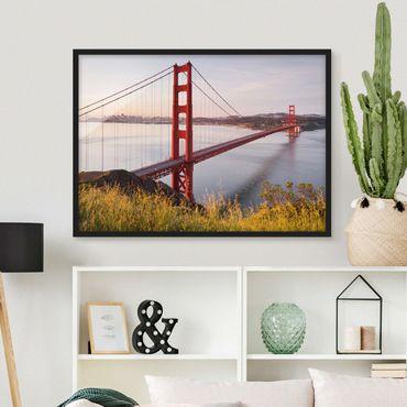Poster con cornice - Golden Gate Bridge In San Francisco - Orizzontale 3:4