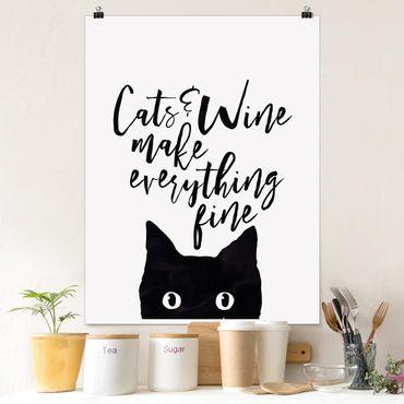 Poster - Gatti E Vino rendere tutto Belle - Verticale 4:3