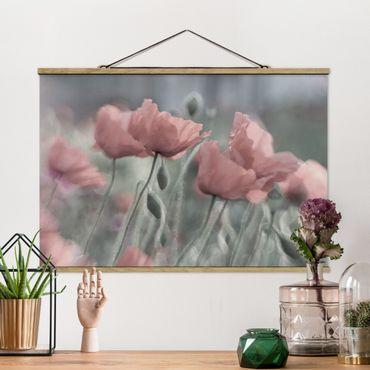 Foto su tessuto da parete con bastone - pittoreschi Poppies - Orizzontale 2:3