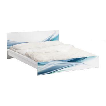 Carta adesiva per mobili IKEA - Malm Letto basso 140x200cm Blue Dust