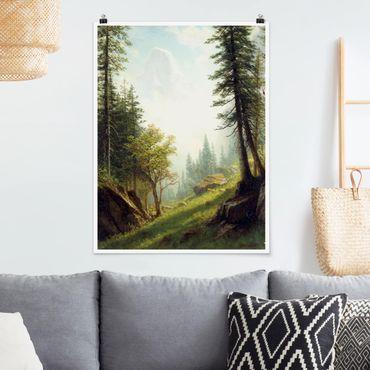 Poster - Albert Bierstadt - Nelle Alpi Bernesi - Verticale 4:3