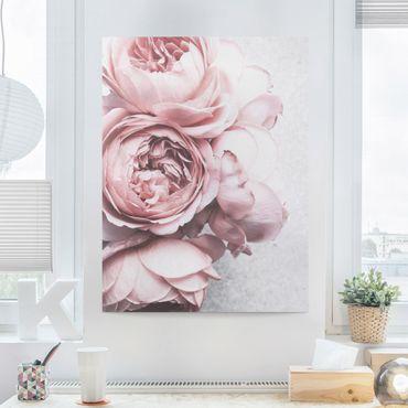 Quadri su tela - Pink Peony fiori pastello misera