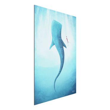 Stampa su alluminio - Lo squalo balena - Verticale 3:2