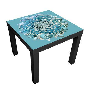 Tavolino design Blue Chrysanthemum