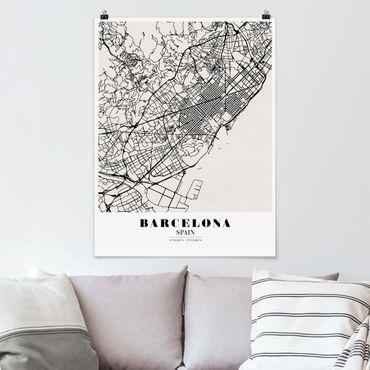 Poster - Mappa Barcelona - Classic - Verticale 4:3