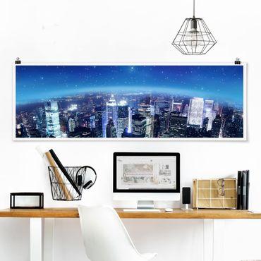 Poster - Illuminato New York - Panorama formato orizzontale