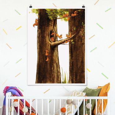 Poster - Home Of Einhörnchen - Verticale 4:3