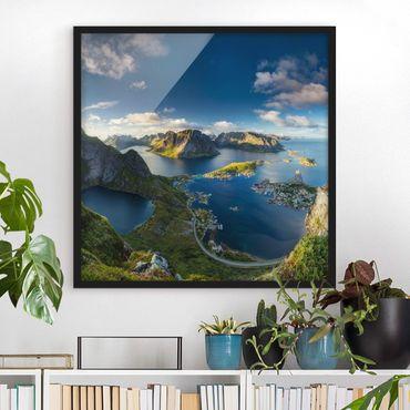 Poster con cornice - Fjord In Reinebringen - Quadrato 1:1