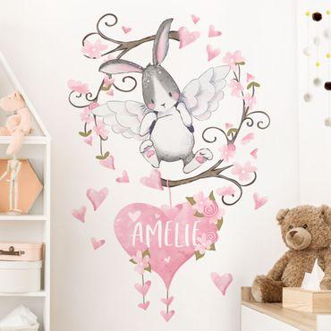Adesivo murale - Hare Angelo Con Desiderate Nome