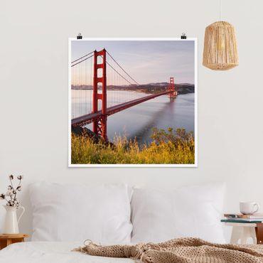 Poster - Golden Gate Bridge di San Francisco - Quadrato 1:1