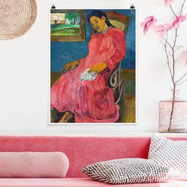 Poster - Paul Gauguin - Melancholikerin - Verticale 4:3