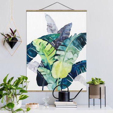 Foto su tessuto da parete con bastone - Exotic Foliage - Banana - Verticale 4:3