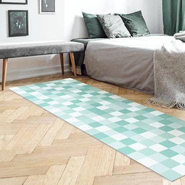 Tappeti in vinile - Trama geometrica di mosaico verde menta - Pannello