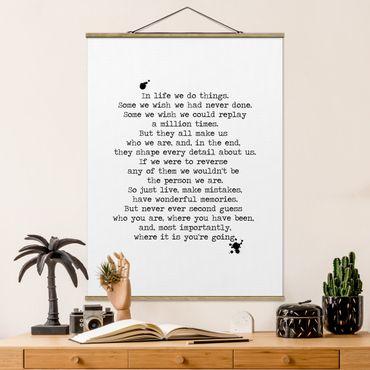 Foto su tessuto da parete con bastone - In Life facciamo le cose - Verticale 4:3