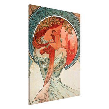 Lavagna magnetica - Alfons Mucha - Quattro arti - Poesia - Formato verticale 2:3