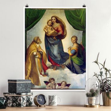 Poster - Raffael - Madonna Sistina - Verticale 4:3